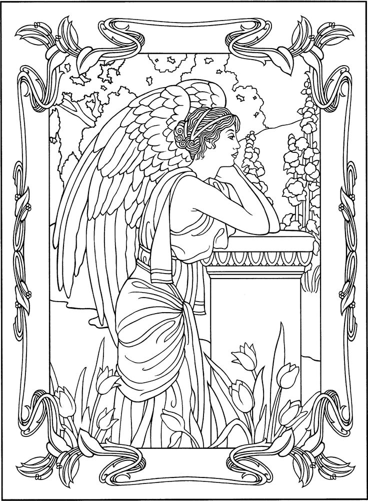 angel pictures to color two angels coloring page free printable coloring pages pictures color angel to