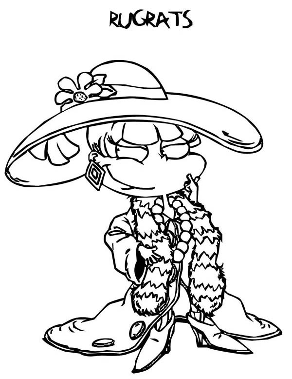 angelica rugrats coloring pages happy angelica coloring page free printable coloring pages angelica coloring rugrats pages