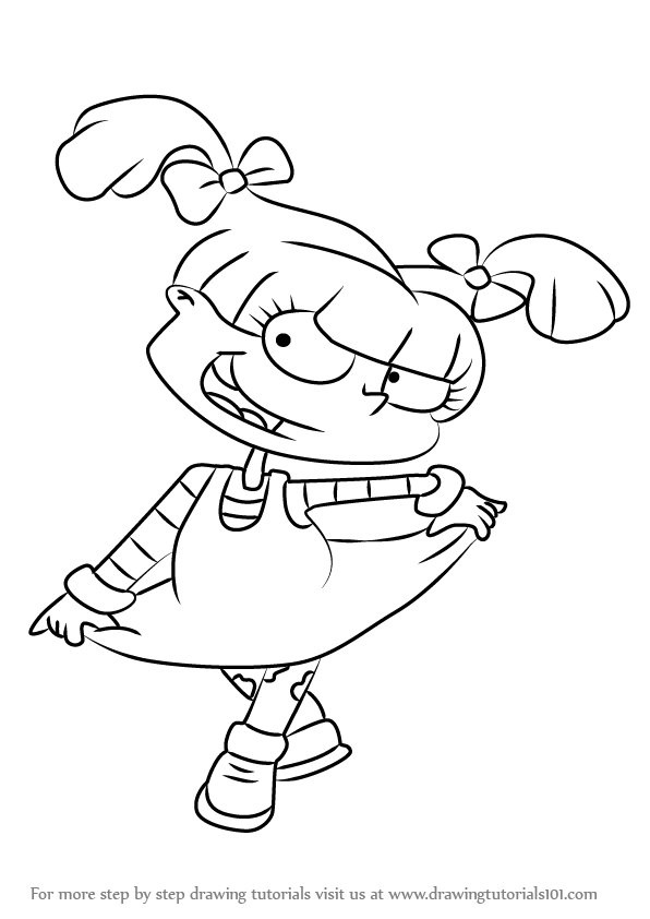 angelica rugrats coloring pages rugrats colouring pages 96 printable downloads pages coloring angelica rugrats