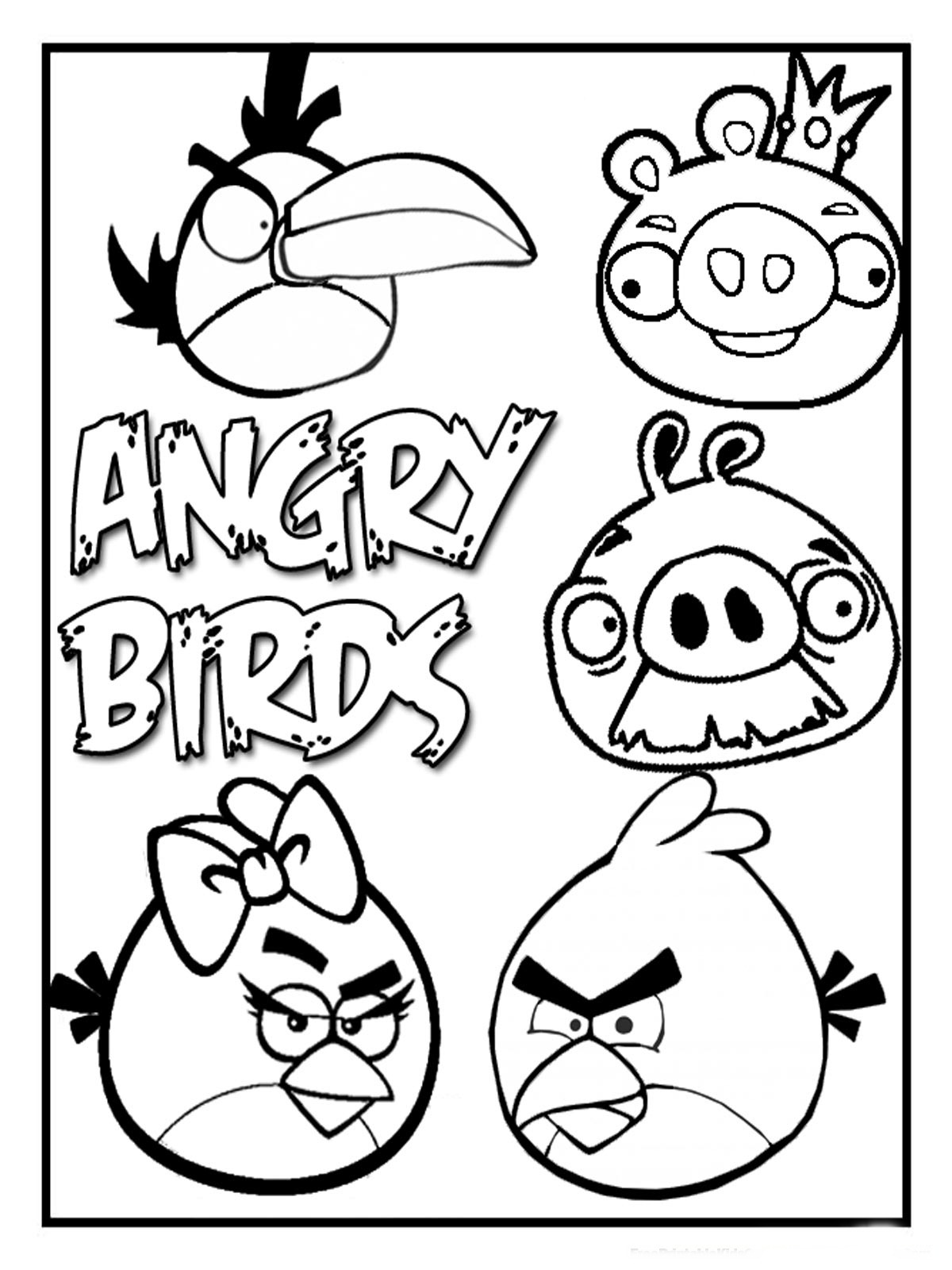 angry birds pictures to color and print angry birds kids coloring pages free printable kids and to birds color pictures angry print