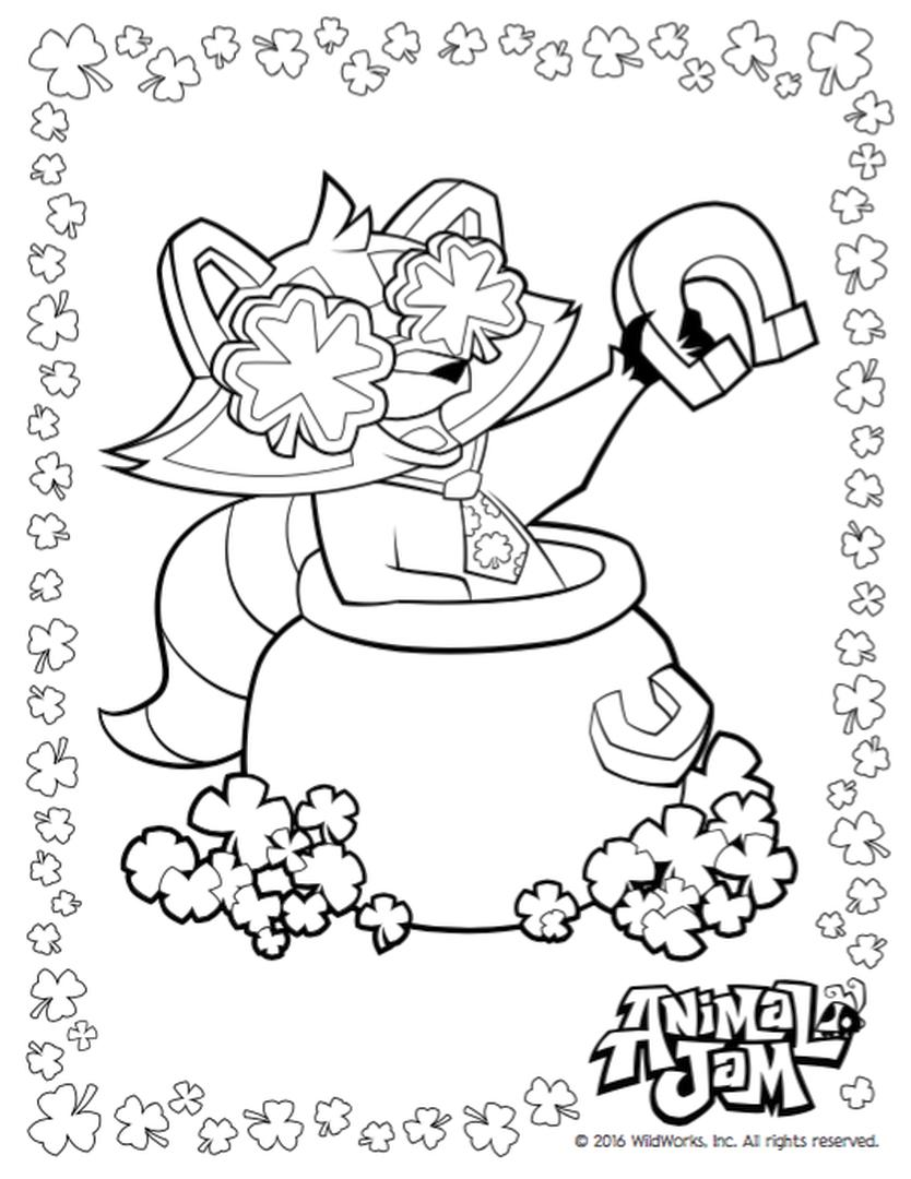 animal jam coloring animal jam coloring pages greely free printable coloring coloring animal jam