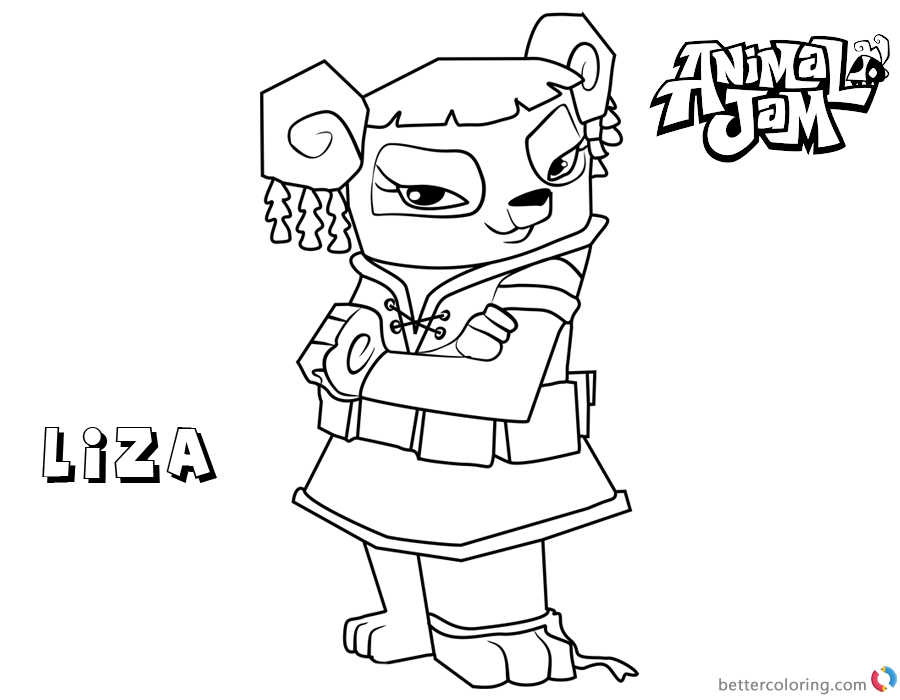 animal jam coloring animal jam coloring pages liza free printable coloring pages animal jam coloring