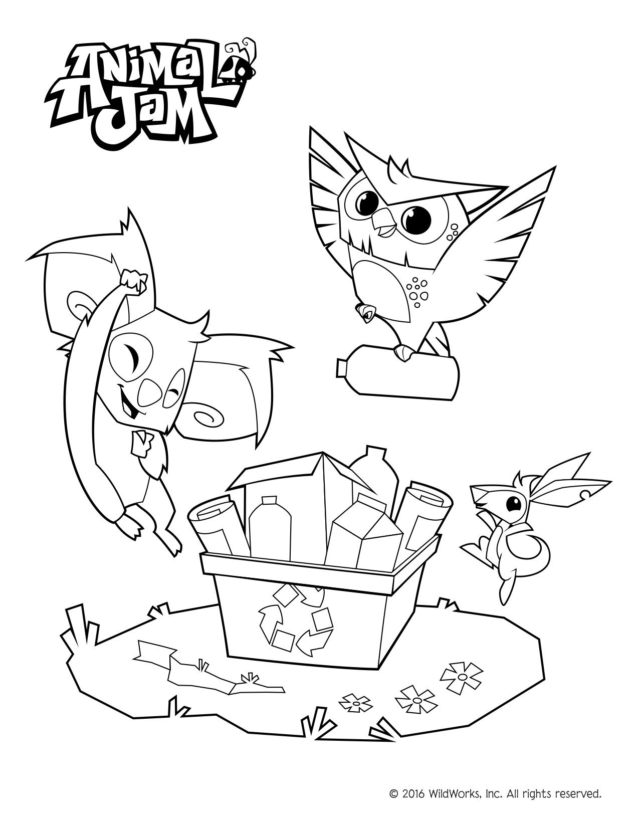 animal jam coloring get this lucky day animal jam coloring pages free 2lck animal coloring jam