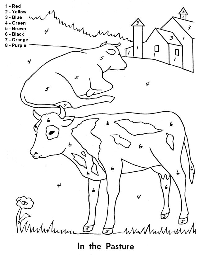 animal number coloring pages color by numbers animal coloring pages for kids part i animal coloring pages number
