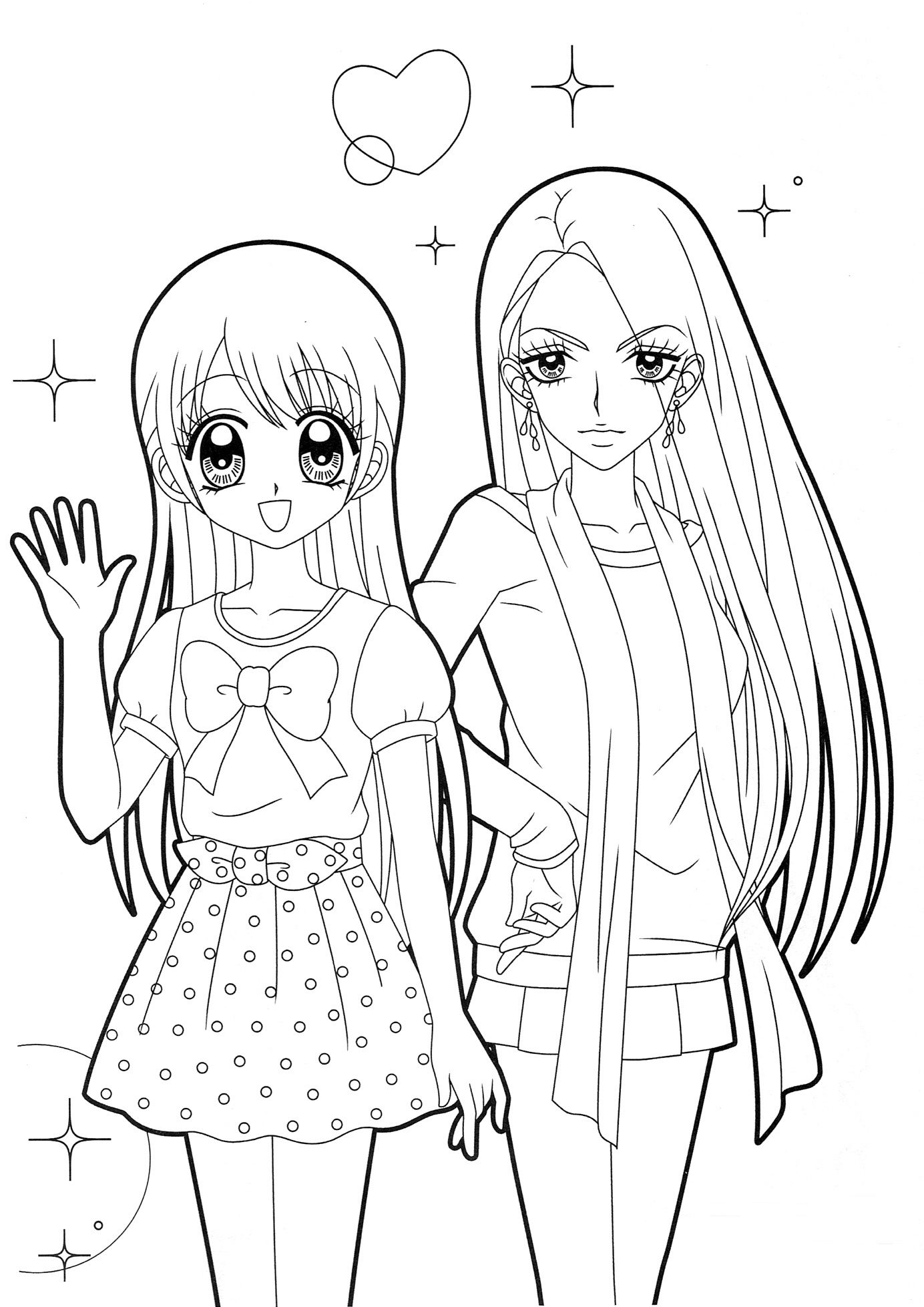 anime girl coloring pictures anime coloring pages getcoloringpagescom girl anime coloring pictures
