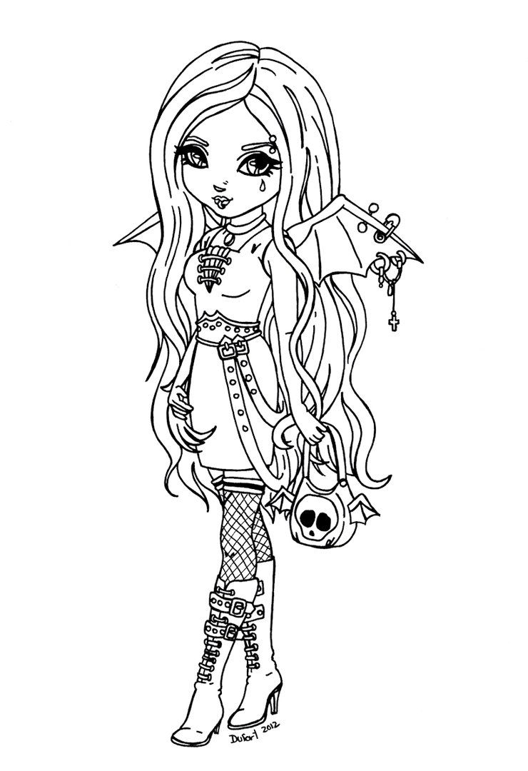 anime girl coloring pictures anime vampire girl coloring pages coloring home girl pictures coloring anime