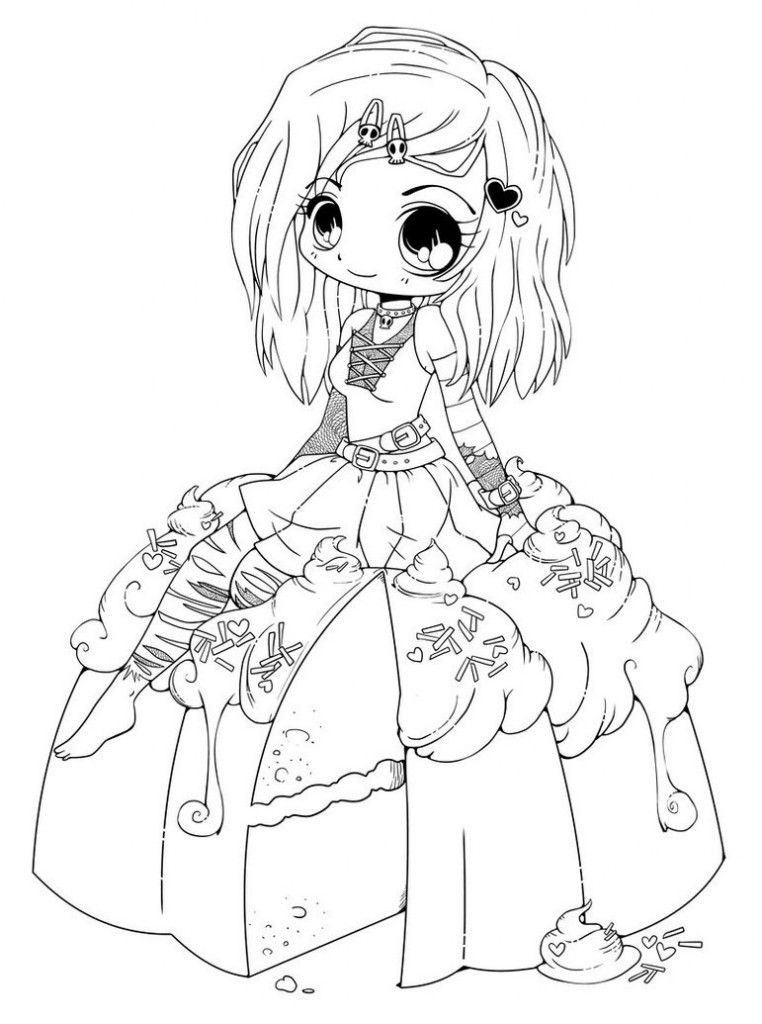 anime girl coloring pictures cute anime coloring pages coloring home anime pictures girl coloring