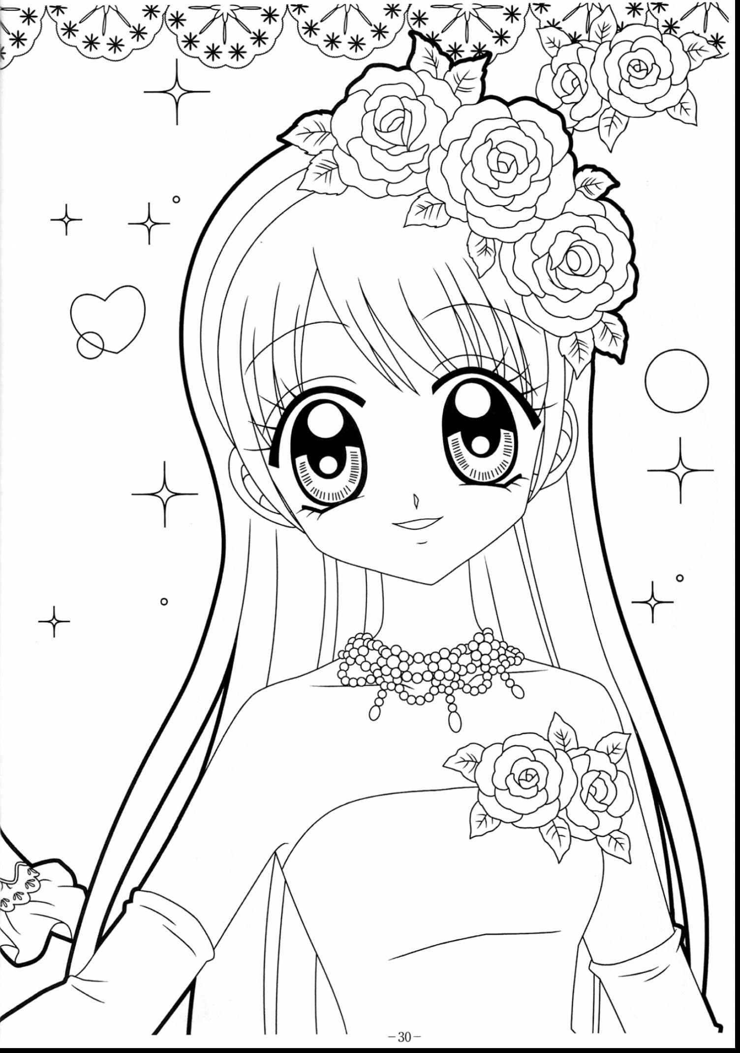 anime girl coloring pictures kawaii coloring pages at getdrawings free download anime pictures coloring girl
