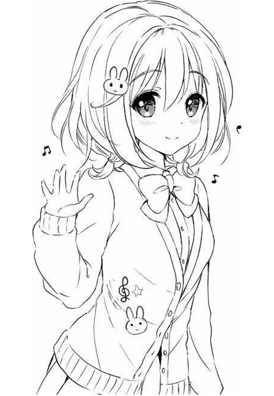 anime girl coloring pictures sakura coloring pages for kids printable free anime pictures girl coloring