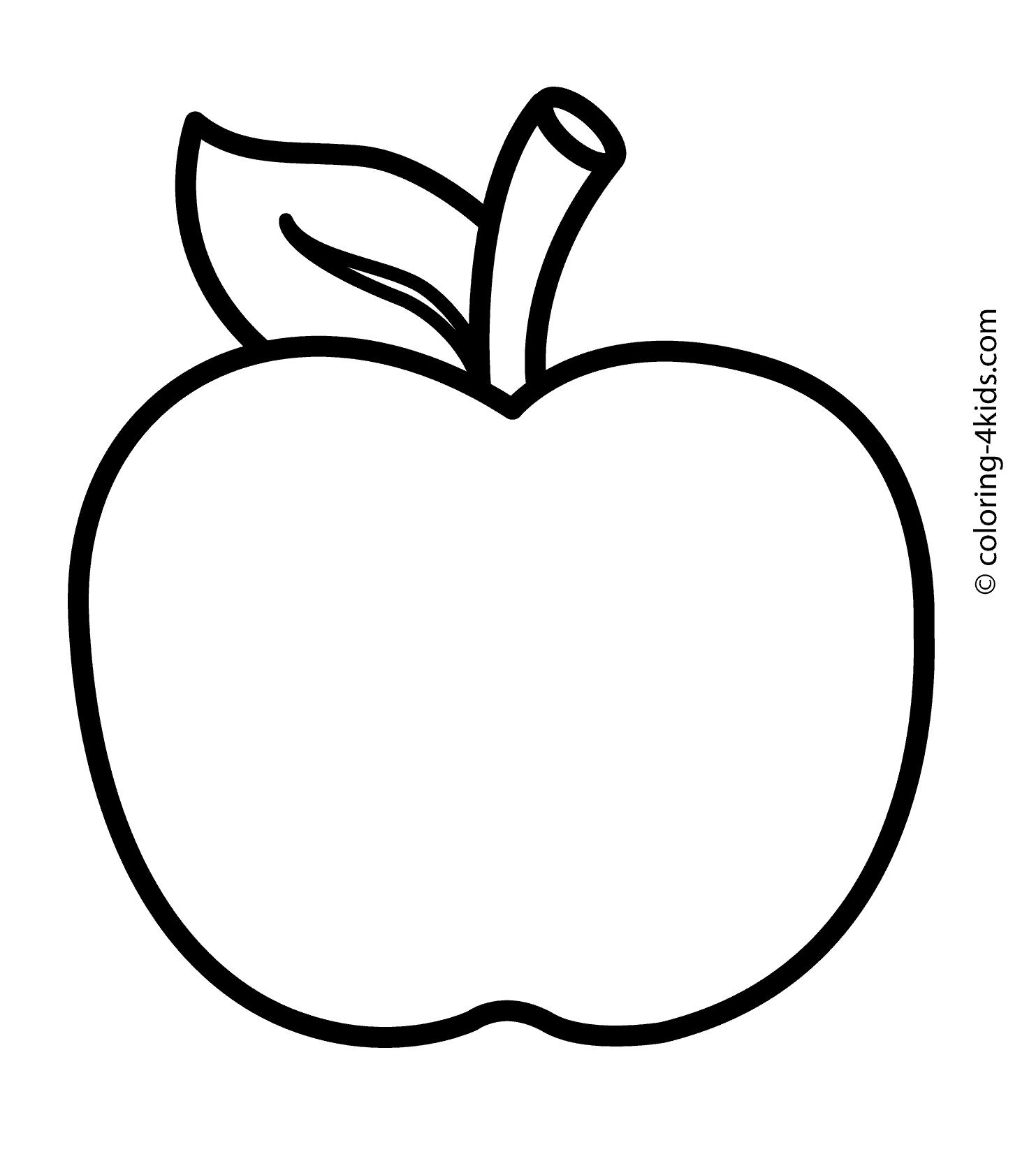 apple for coloring coloring page of apple coloring home for apple coloring