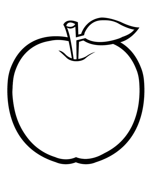apple for coloring fresh apple coloring page mitraland for apple coloring