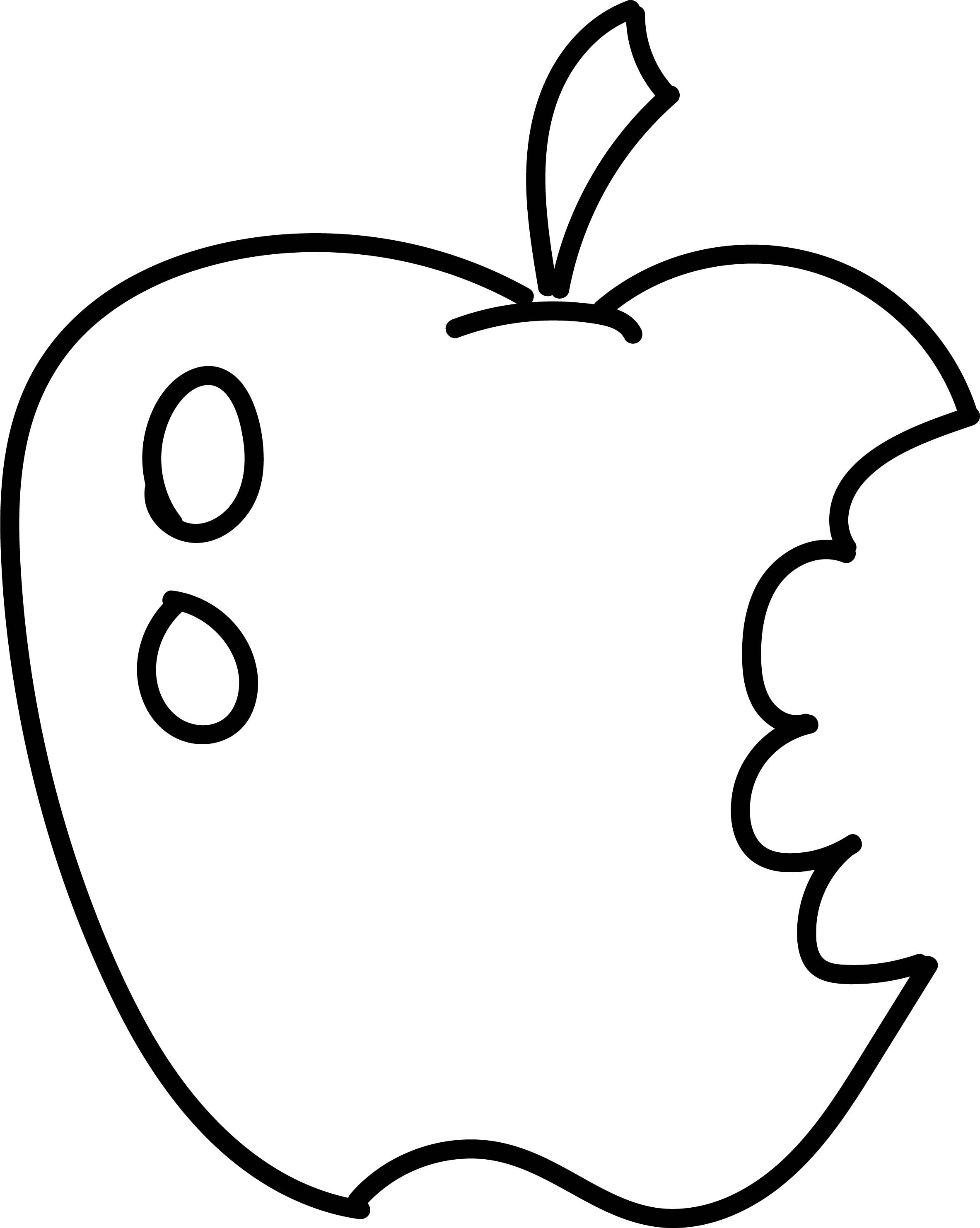 apple for coloring three tasty apples free coloring page to print coloring apple for
