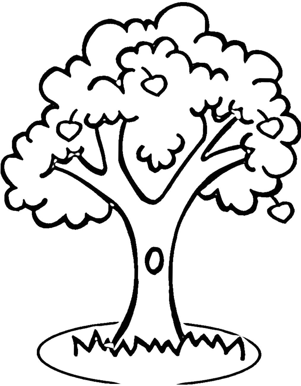 apple tree pictures to color apple tree coloring page in 2020 easy coloring pages to color tree apple pictures