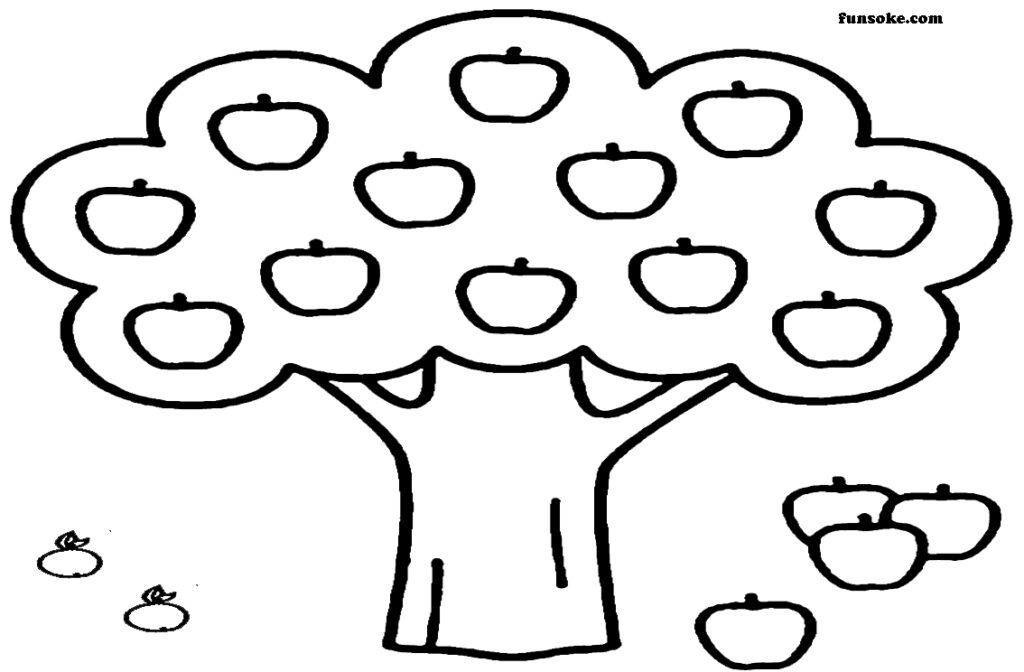 apple tree pictures to color coloring page for kids apple tree coloring home apple to pictures tree color