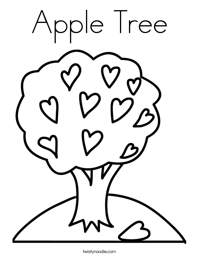apple tree pictures to color huge apple tree coloring page kids play color pictures apple tree to color