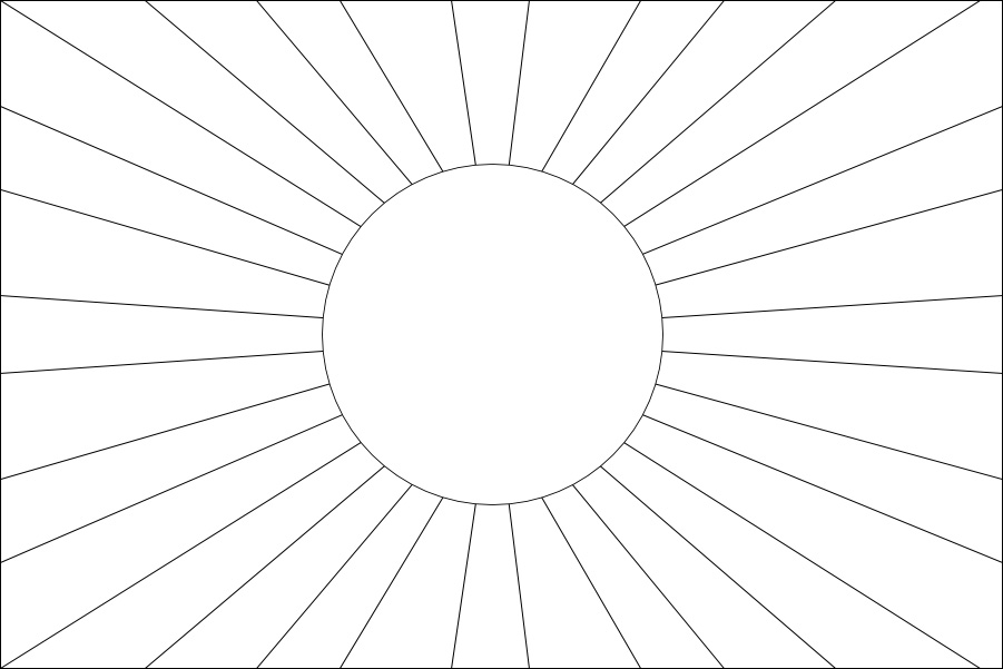 asian flag japanese flag printable colouring pages asian flag