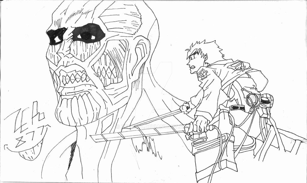 attack on titan coloring attack on titan coloring page best of attack titan free coloring on attack titan