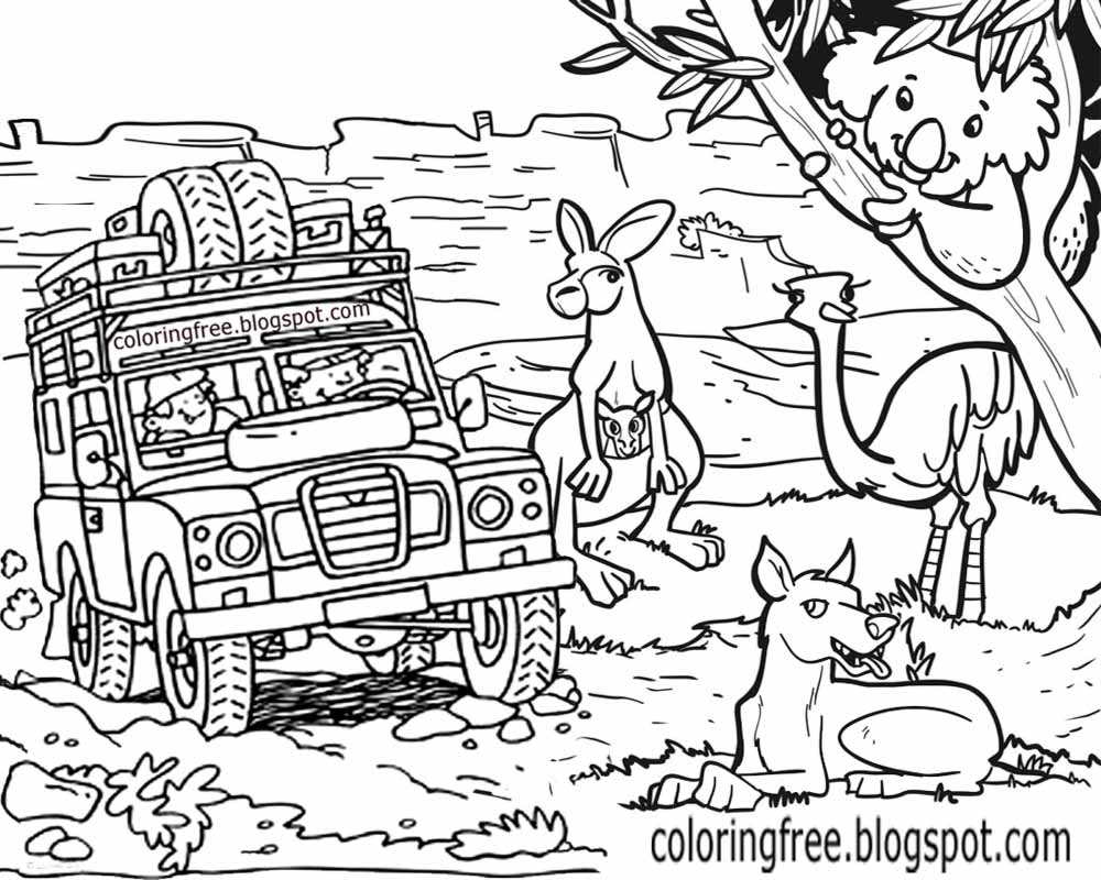 australian animals to colour free coloring pages printable pictures to color kids animals australian colour to