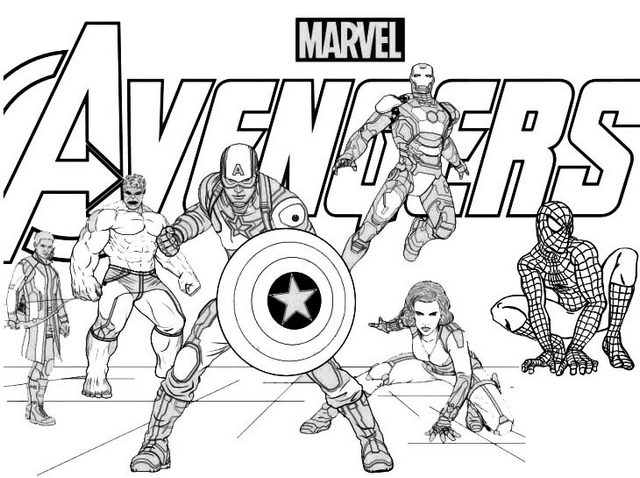 avengers 4 coloring pages avengers infinity war coloring pages printable printall pages coloring avengers 4