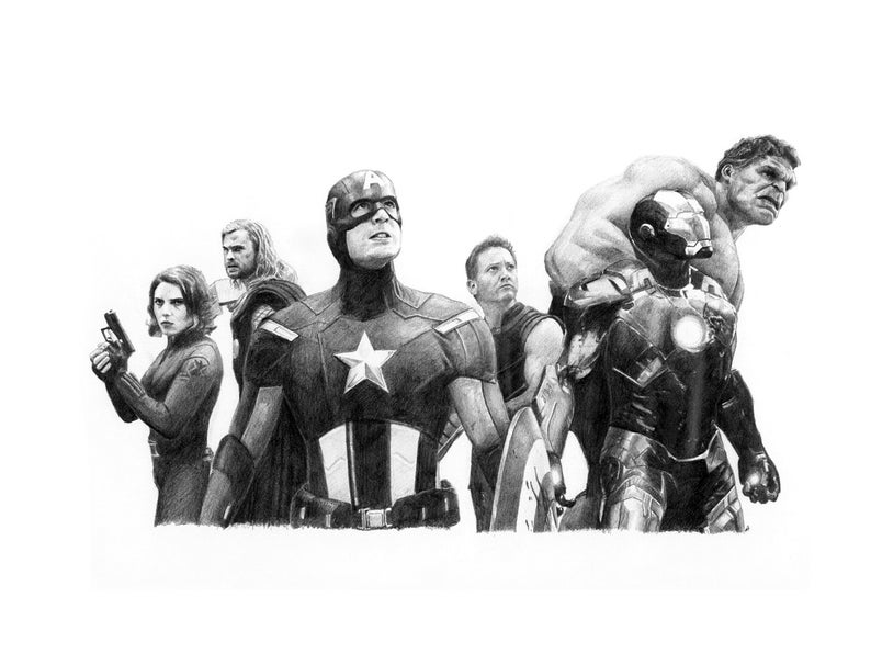avengers drawing pictures avengers assemble pencil drawing etsy pictures avengers drawing