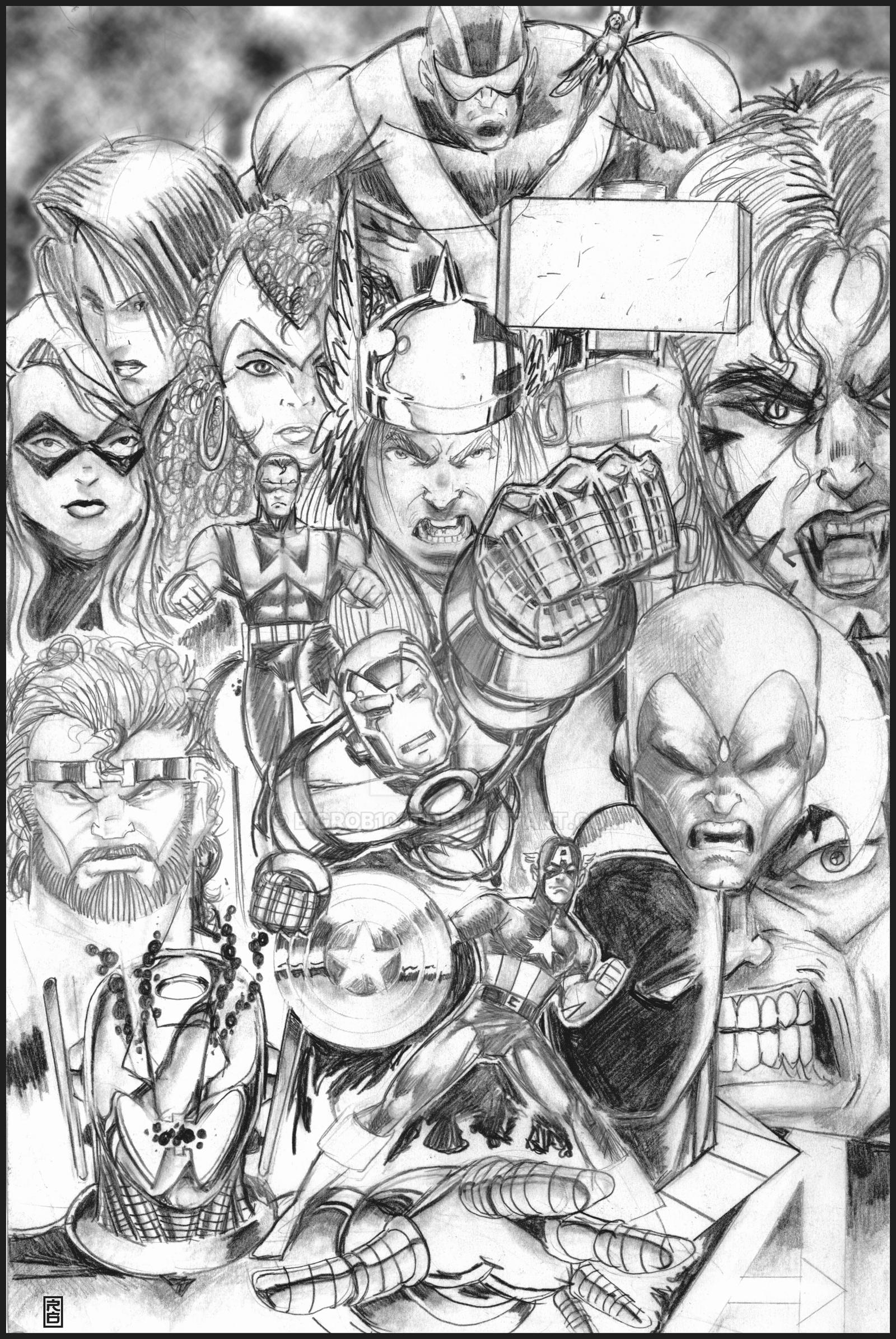 avengers drawing pictures the avengers in pencil by bigrob1031 on deviantart pictures avengers drawing
