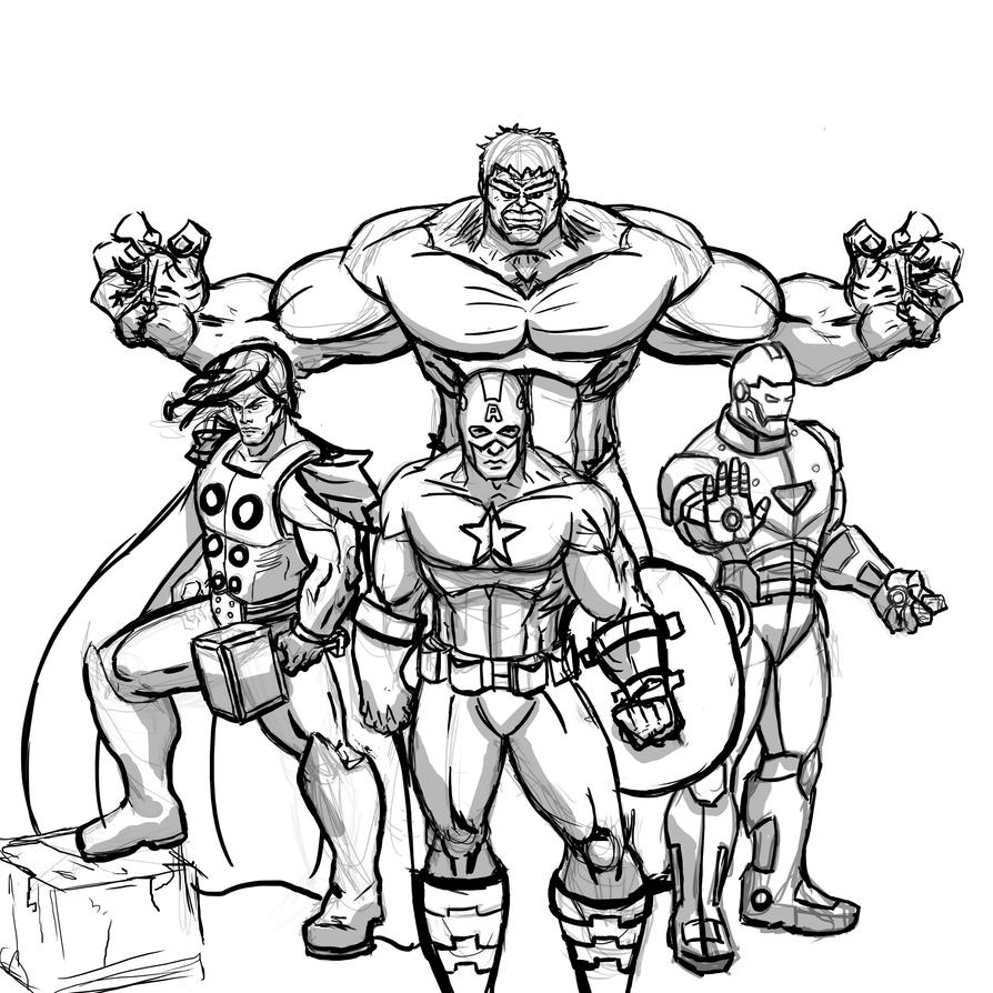 avengers drawing pictures the avengers wip by dee pathirana on deviantart avengers pictures drawing