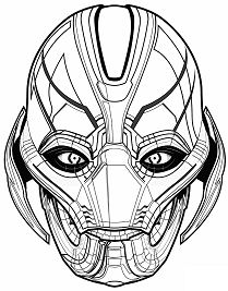 avengers ultron coloring pages ultron coloring page at getdrawings free download pages avengers ultron coloring