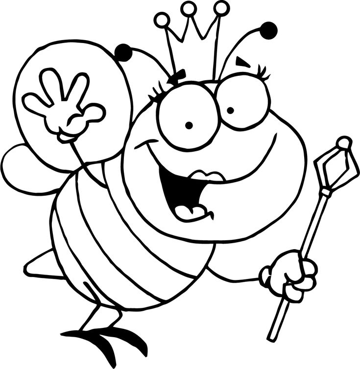 b is for bee coloring page b is for bee queen bee coloring page for kids bee for coloring b is page