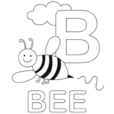 b is for bee coloring page b is for bumble bee coloring pages best place to color for page is bee b coloring