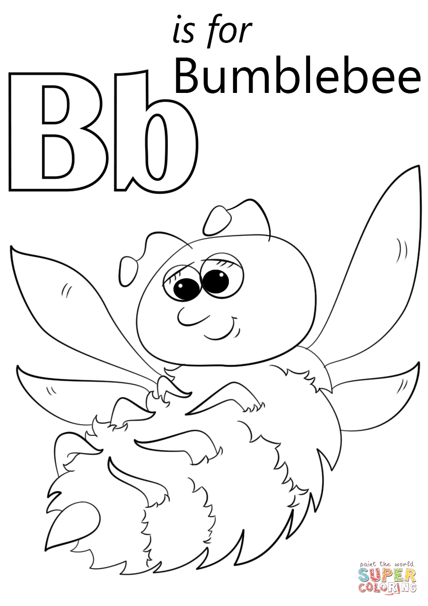 b is for bee coloring page letter b is for baby coloring page free printable page b is coloring bee for