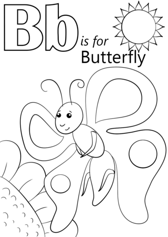 b is for bee coloring page letter b is for balloon coloring page free printable page is coloring bee b for