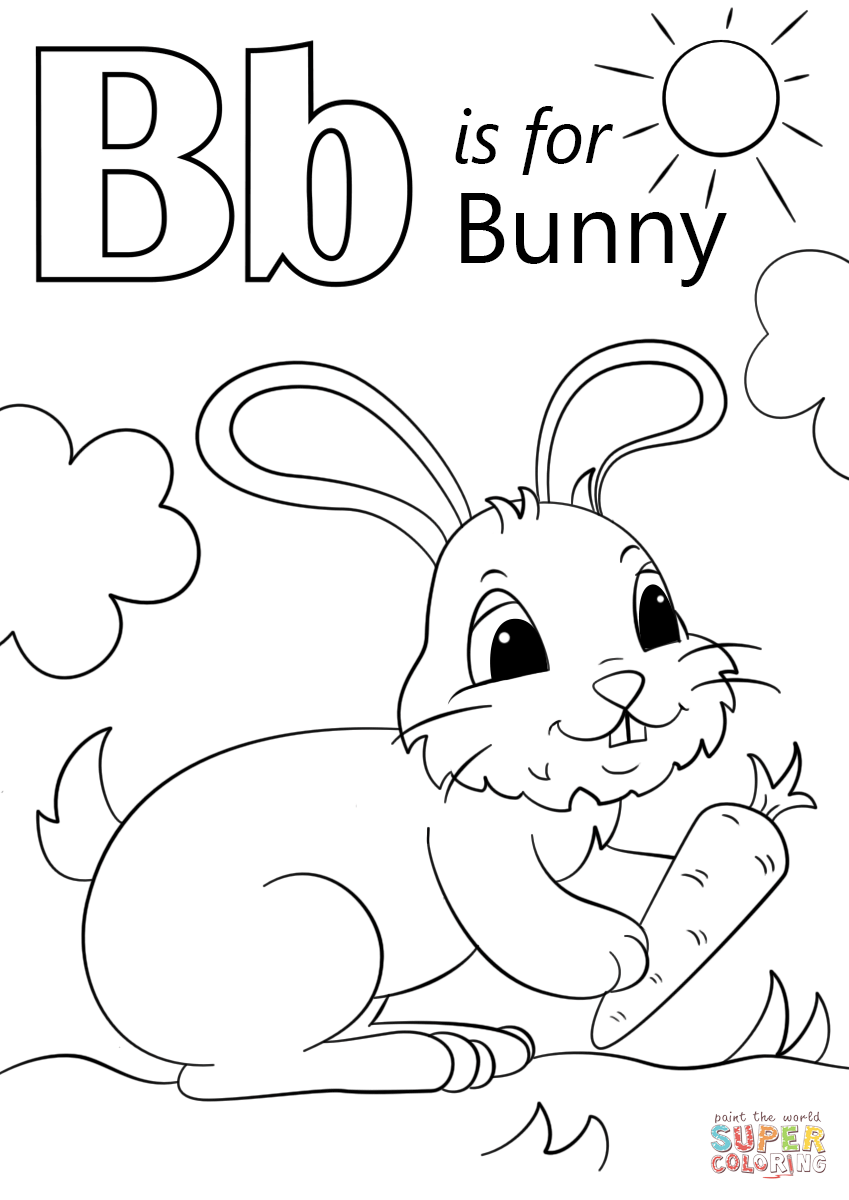 b is for bee coloring page letter b is for bunny coloring page free printable page for b bee coloring is