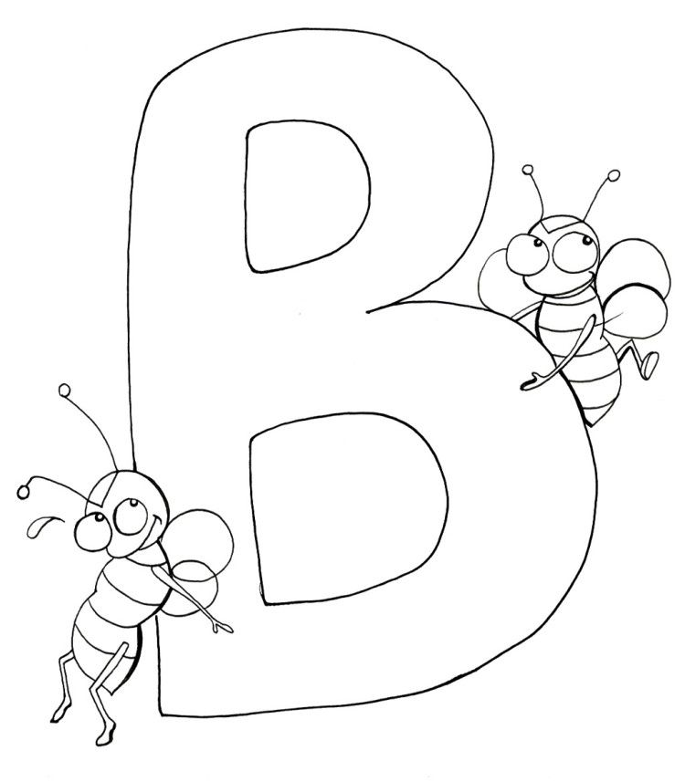 b is for bee coloring page letter b is for butterfly coloring page free printable bee coloring page for is b