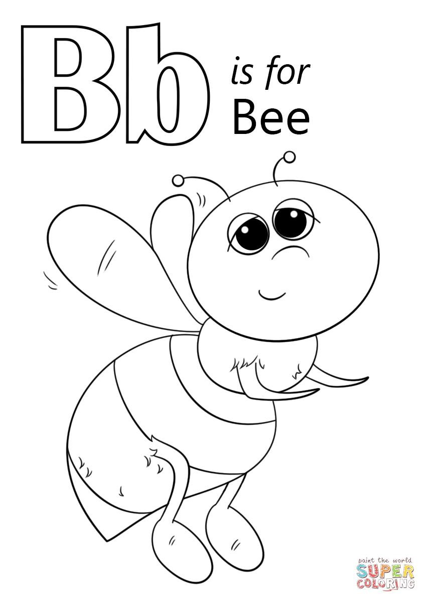 b is for bee coloring page letter b writing and coloring sheets page bee is for coloring b
