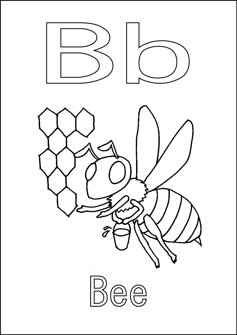 b is for bee coloring page lettere e numeri lettera b in stampato minuscolo di bee coloring b is page bee for