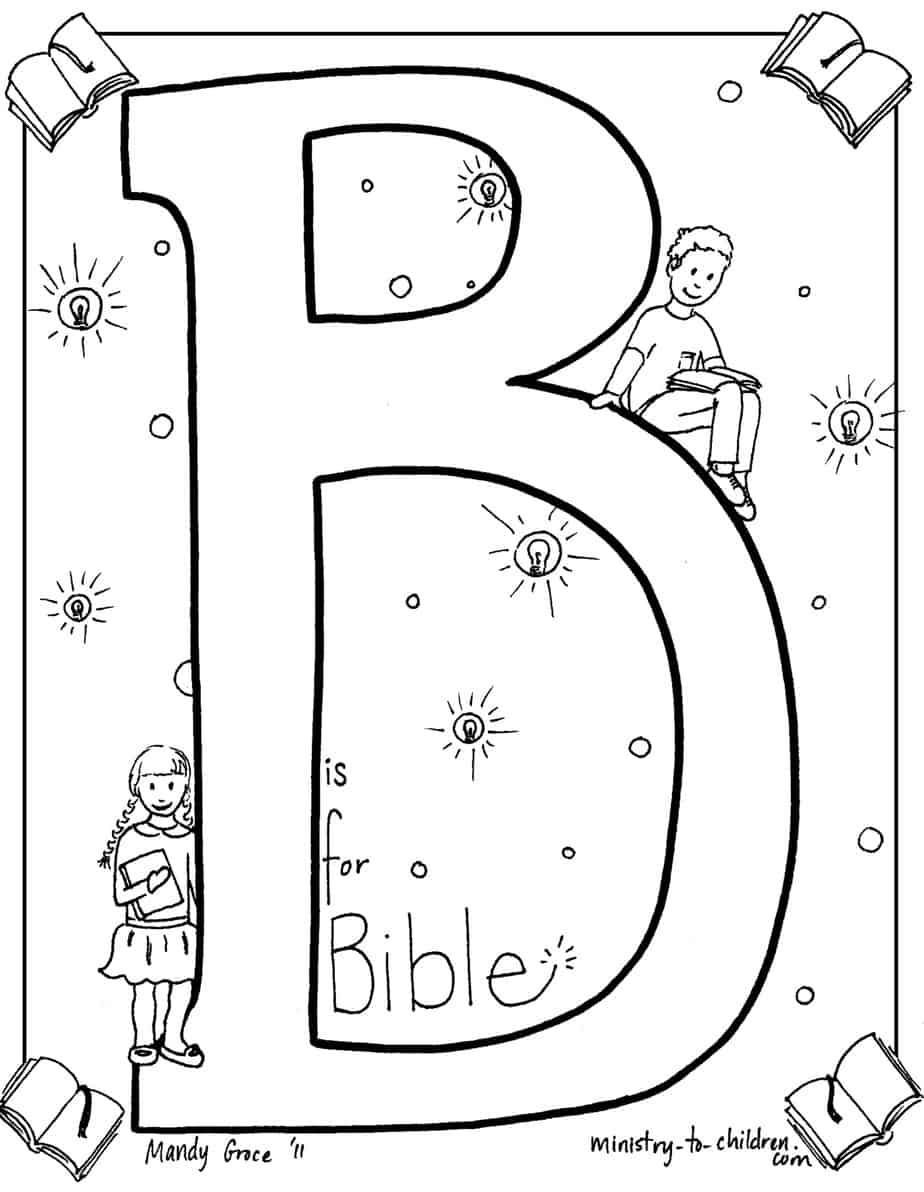 b is for bible coloring page b is for bible religious coloring pages pinterest for is page bible coloring b