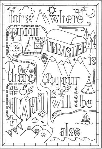 b is for bible coloring page where your treasure is there your heart will be also bible is b for page coloring