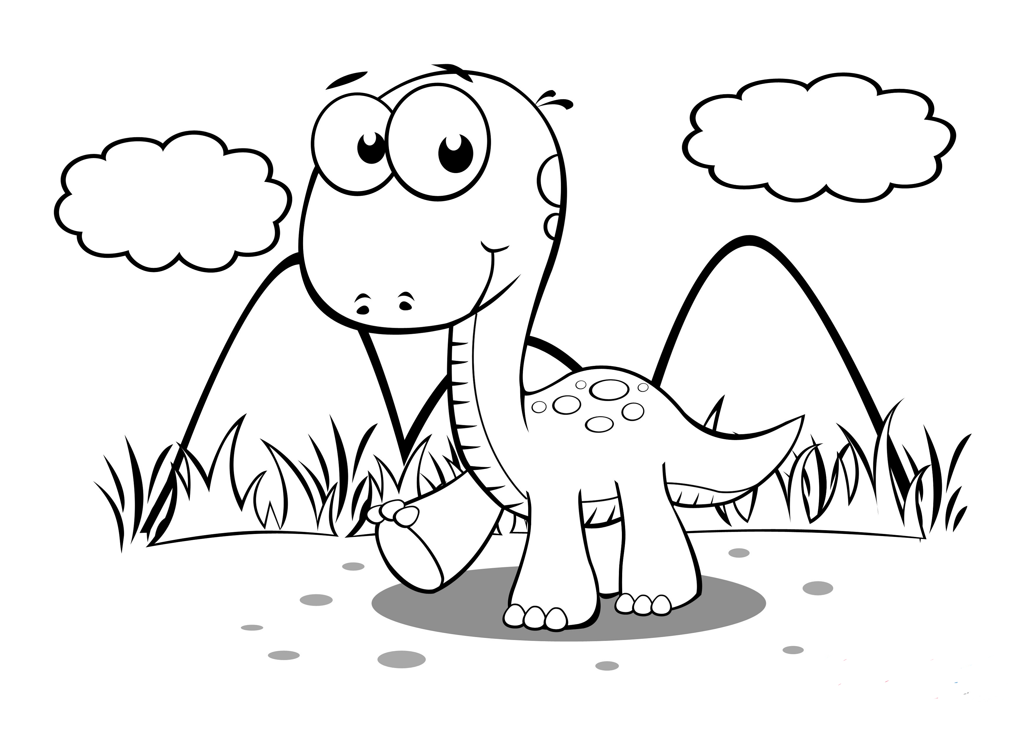 baby dinosaur coloring pages cool baby dinosaur forest coloring page hayvanlar dinosaur baby pages coloring