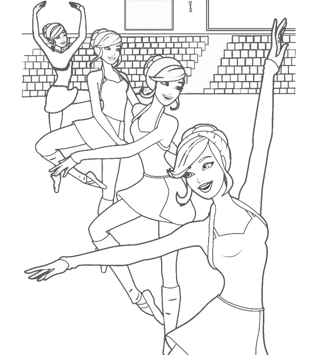 ballerina coloring pictures ballet coloring pages coloring ballerina pictures