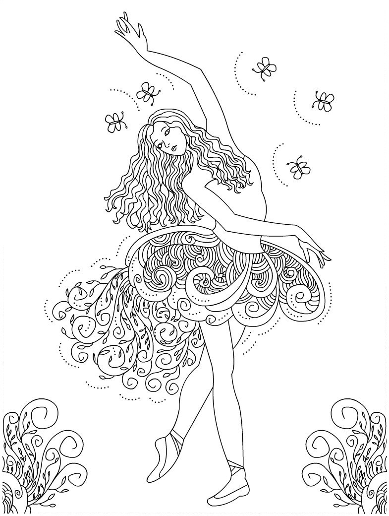 ballerina coloring pictures ballet coloring pages coloring ballerina pictures 1 2