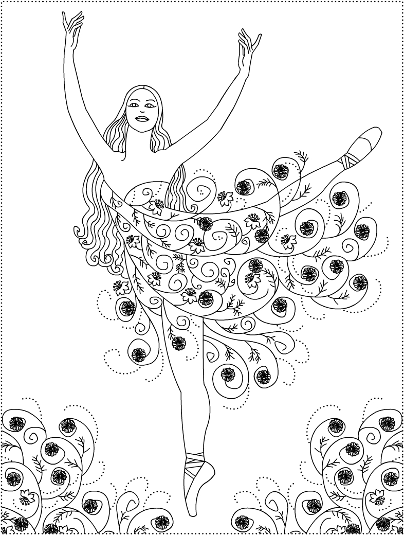 ballet pictures to colour ballet dancer anti stress adult coloring pages colour ballet pictures to