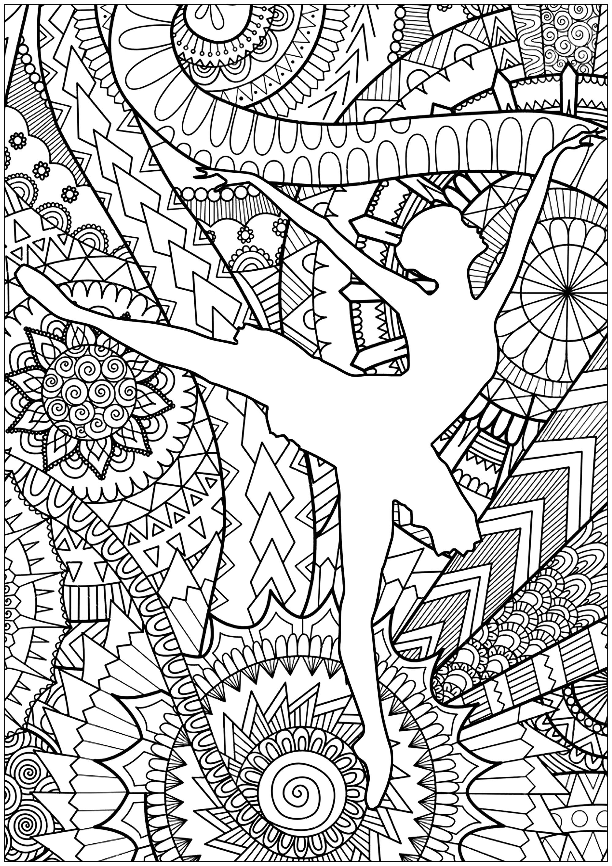 ballet pictures to colour coloring page ballerina in a modest dress ballet colour to pictures