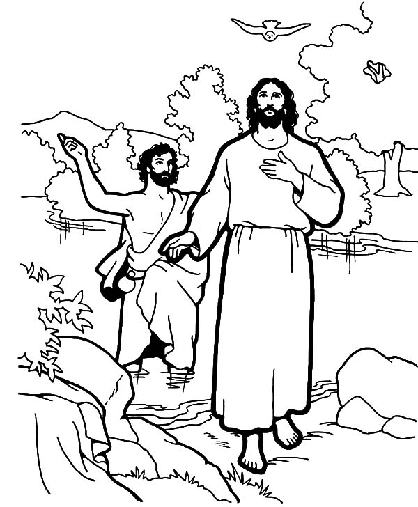 baptism of jesus coloring page baptism coloring pages catholic baptism jesus coloring of baptism page coloring jesus