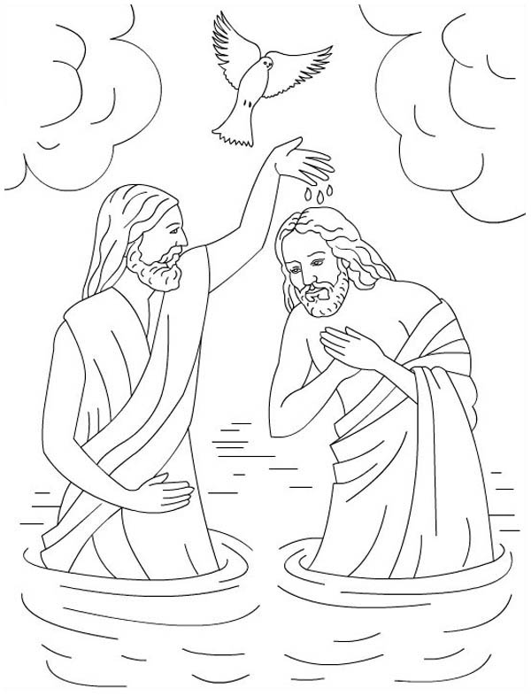 baptism of jesus coloring page baptism of jesus coloring page childrencoloringus of coloring baptism jesus page