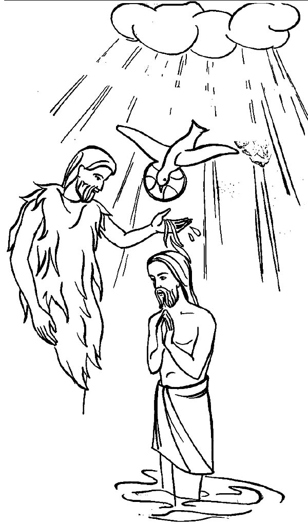 baptism of jesus coloring page baptism of jesus coloring pages pictures to pin on baptism coloring of jesus page