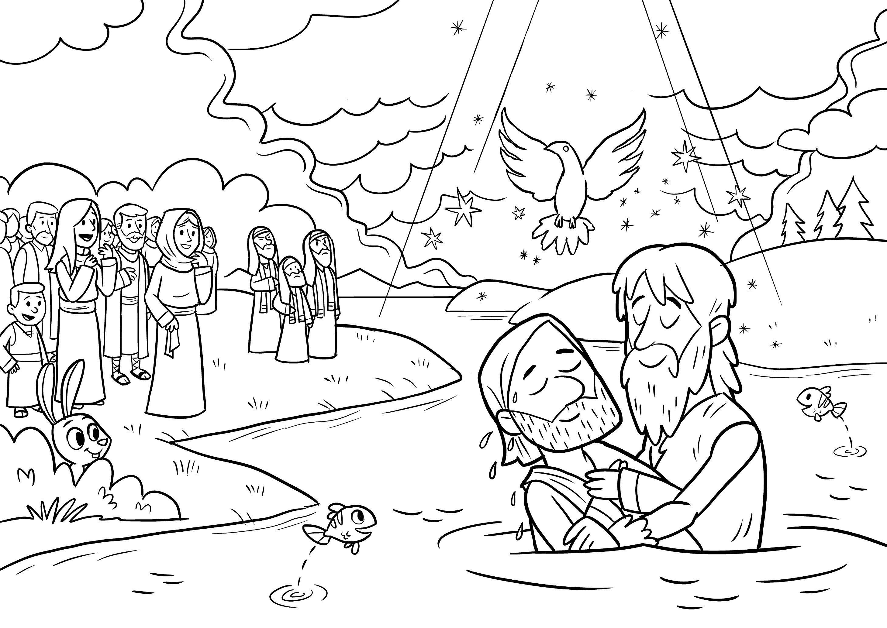 baptism of jesus coloring page john the baptism in life of jesus coloring pages best coloring baptism jesus page of