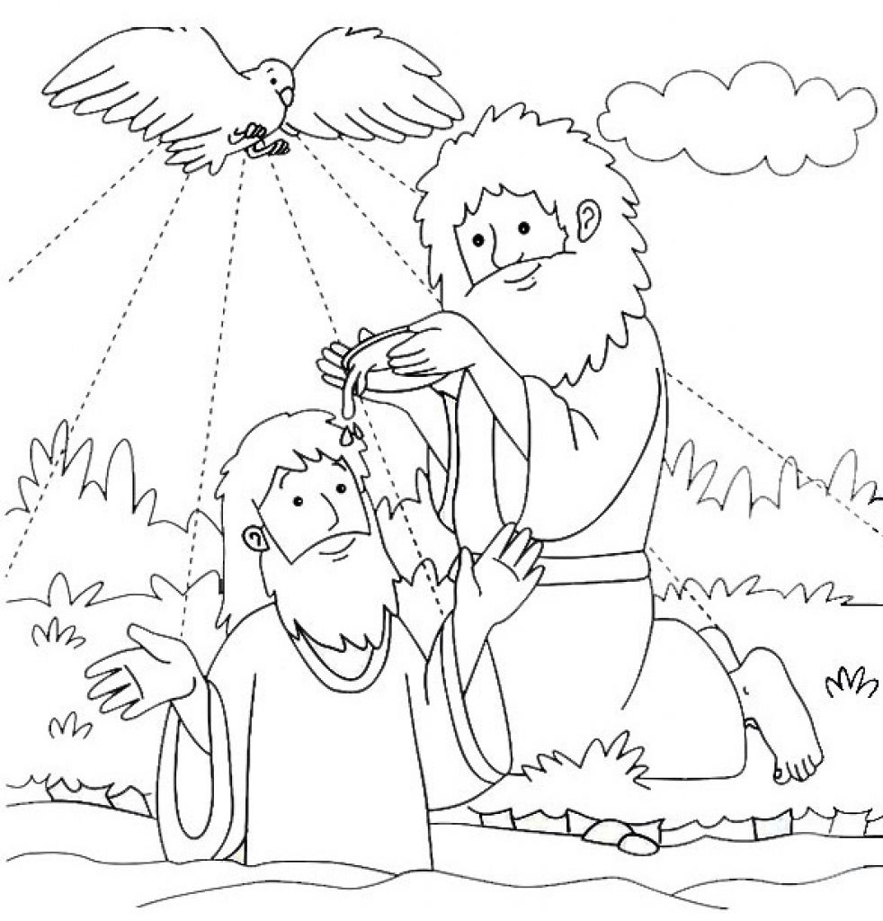 baptism of jesus coloring page luminous mysteries rosary coloring pages the catholic page baptism jesus coloring of