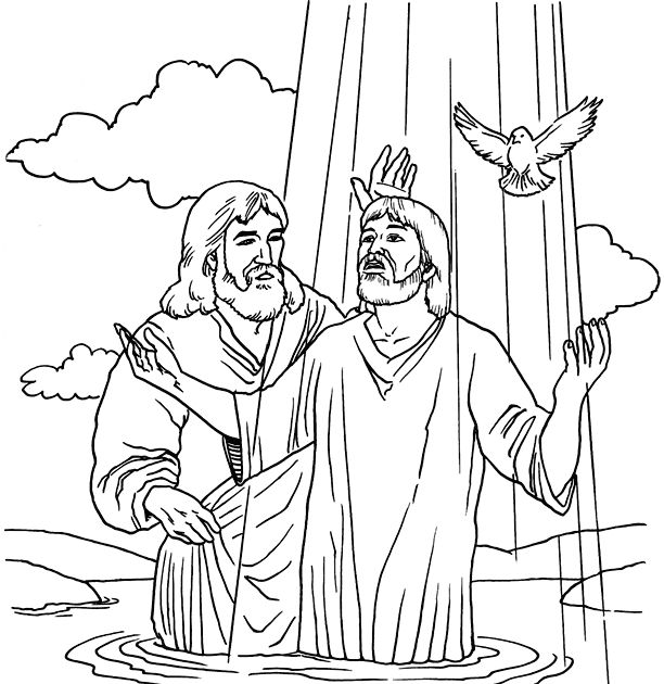 baptism of jesus coloring page sunday school jesus baptism pages coloring pages page coloring jesus of baptism