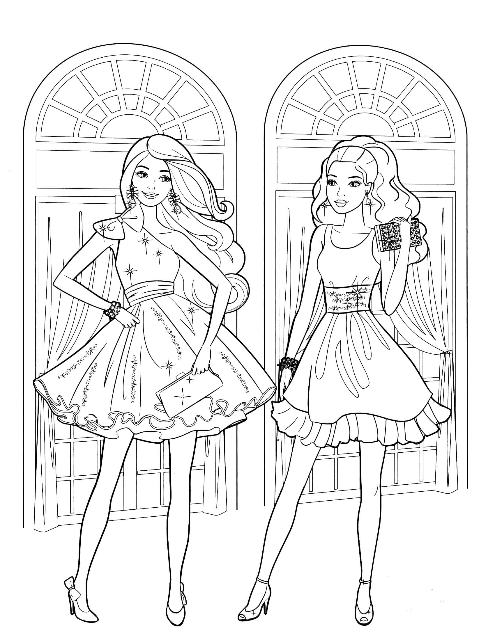 barbie color sheets barbie dream house coloring pages at getcoloringscom sheets color barbie
