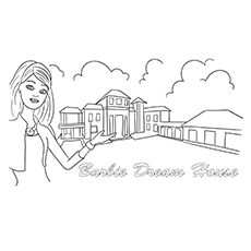 barbie dream house coloring pages barbie coloring pages free and printable barbie house pages dream coloring